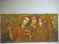 Girl's Party 30x60 Original Painting by Oleg Zhivetin - 1