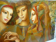 Girl's Party 30x60 Original Painting by Oleg Zhivetin - 3