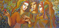 Girl's Party 30x60 Original Painting by Oleg Zhivetin - 0