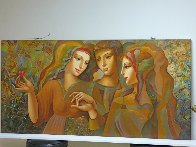 Girl's Party 30x60 Original Painting by Oleg Zhivetin - 6