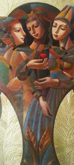 Chosen One 80x36 Huge Original Painting - Oleg Zhivetin