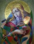 Angel of Roses 51x42 Original Painting - Oleg Zhivetin