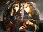 Friendship 1998 Embellished Limited Edition Print - Oleg Zhivetin