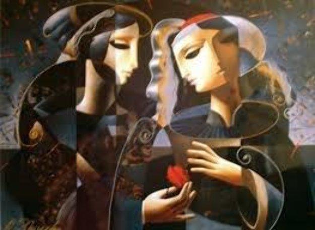 Friendship 1998 Embellished Limited Edition Print by Oleg Zhivetin