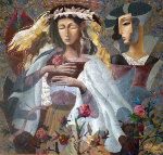 Royal Garden 65x69 Original Painting - Oleg Zhivetin