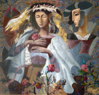 Royal Garden 65x69 Original Painting by Oleg Zhivetin
