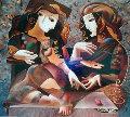 Artists Palette, Messenger, First Date, Set of 3  Limited Edition Print - Oleg Zhivetin