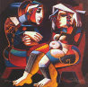 Artists Palette, Messenger, First Date, Set of 3  Limited Edition Print by Oleg Zhivetin - 2