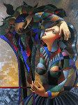 Imaginary Friend 49x39 Original Painting - Oleg Zhivetin