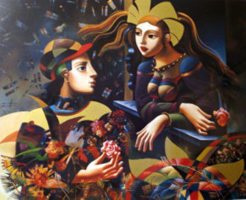 Visit in the Garden Limited Edition Print by Oleg Zhivetin