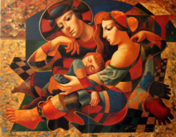 Resting Family Limited Edition Print by Oleg Zhivetin