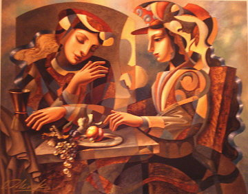 At the Table Limited Edition Print by Oleg Zhivetin