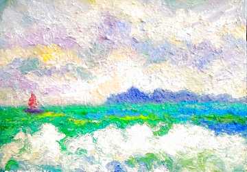 Summer Sea 2020 20x16 Original Painting - Memli Zhuri