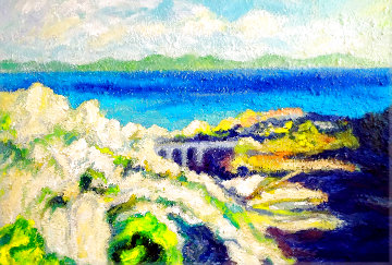 French Riviera 2020 48x35 Original Painting - Memli Zhuri