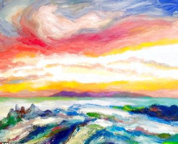 Winter Scene 2020 28x28 Original Painting - Memli Zhuri