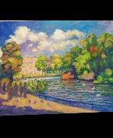 St. James Park Summer Scene 2019 50x40  Super Huge Original Painting by Memli Zhuri - 2