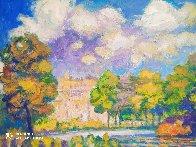 St. James Park Summer Scene 2019 50x40  Super Huge Original Painting by Memli Zhuri - 1
