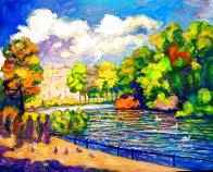 St. James Park Summer Scene 2019 50x40  Super Huge Original Painting by Memli Zhuri - 0