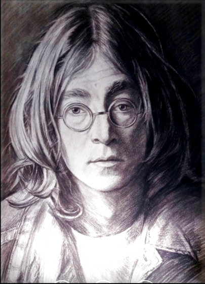John Lennon 1996 20x16 Works on Paper (not prints) by Memli Zhuri