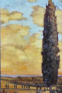 Tuscan Landscape 2001 26x18 Original Painting by Caroline Zimmermann