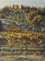 Villa Lucciola, Rome 53x42 Original Painting - Caroline Zimmermann