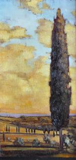 Tuscan Landscape 25x17 Original Painting by Caroline Zimmermann