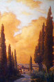 Tuscany Twilight 2007 48x68 Original Painting - Caroline Zimmermann