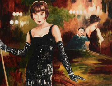 Ever Loved a Woman Who Made You Feel Tall? Embellished  Limited Edition Print by Joanna Zjawinska