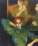 Cue Stick Watercolor 1984 41x33 Watercolor - Joanna Zjawinska