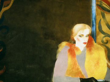 Princess of Little Italy Watercolor 1983 32x40 Watercolor by Joanna Zjawinska
