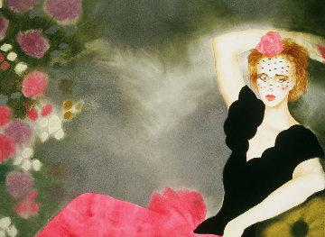 Spanish Harlem Watercolor 1984 32x40 Huge Watercolor - Joanna Zjawinska