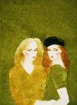 Good Times Watercolor 1983 40x32 Watercolor - Joanna Zjawinska
