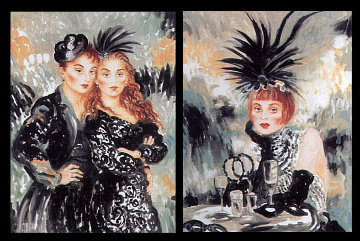 Moulin Rouge Suite of 2 1998 Limited Edition Print by Joanna Zjawinska