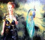 Peacock 2006 46x37 Original Painting - Joanna Zjawinska