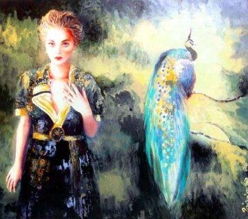 Peacock 2006 46x37 Super Huge Original Painting - Joanna Zjawinska