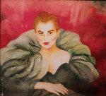Untitled (Portrait of a Woman) Watercolor 1992 31x34 Watercolor - Joanna Zjawinska