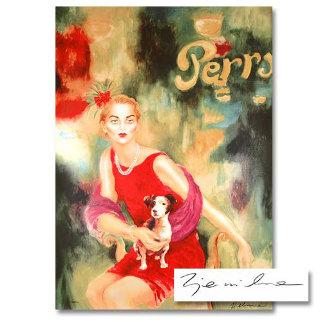 Mimi and Dog Alex 1994 Limited Edition Print by Joanna Zjawinska
