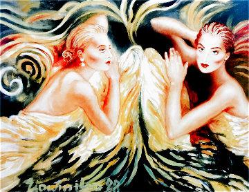 Touch of an Angel 1998 31x42 Huge Limited Edition Print - Joanna Zjawinska