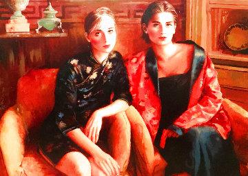 Age of Innocence 2001 41x53 Super Huge Original Painting - Joanna Zjawinska