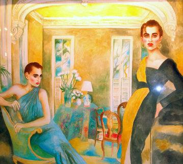 La Dolce Vita II 1982 52x60 Original Painting - Joanna Zjawinska