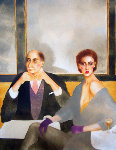 My Uncle Pierre 1984 64x50 Super Huge  Original Painting - Joanna Zjawinska