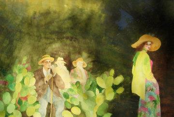 I'm Crazy for You Watercolor 1985 40x60 Super Huge Watercolor - Joanna Zjawinska