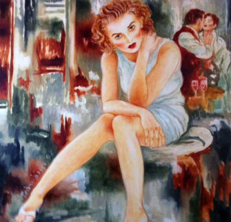 What's New Pussycat 1995 48x48 Original Painting - Joanna Zjawinska