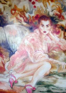 Untitled Woman 1995 57x46 Super Huge Original Painting - Joanna Zjawinska