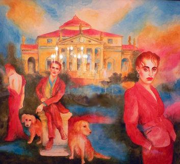 Forever Hoping I Can Find Memories I Left Behind Watercolor 1989 54x62 Super Huge Watercolor - Joanna Zjawinska