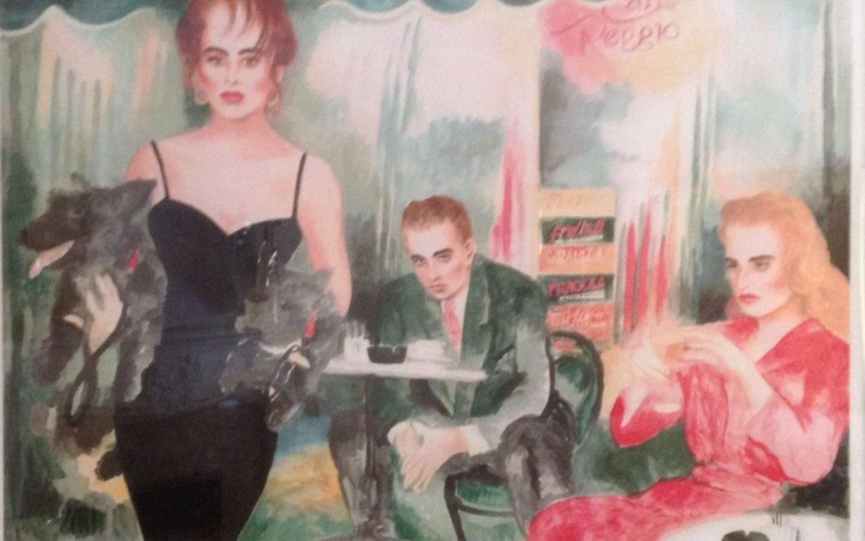 Cafe Reggio 1990 Limited Edition Print by Joanna Zjawinska