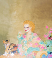 Who is Going to Bring Me Home? Watercolor 44x36 Super Huge Watercolor by Joanna Zjawinska - 0