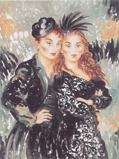 Lulu and Lili From the Moulin Rouge Suite Limited Edition Print - Joanna Zjawinska