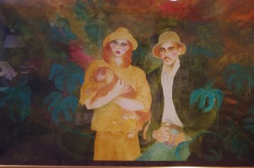 Out of Africa Watercolor 1986 40x60 Watercolor - Joanna Zjawinska