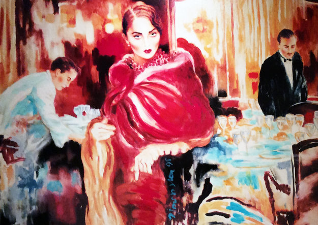 Ask Me Would I Say Yes Embellished Limited Edition Print by Joanna Zjawinska